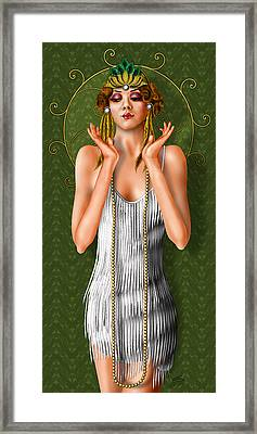 Oh Those Fabulous Flappers Framed Print by Troy Brown