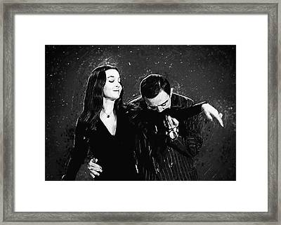Oh Tish I Love It When You Speak French - The Addams Family  Framed Print