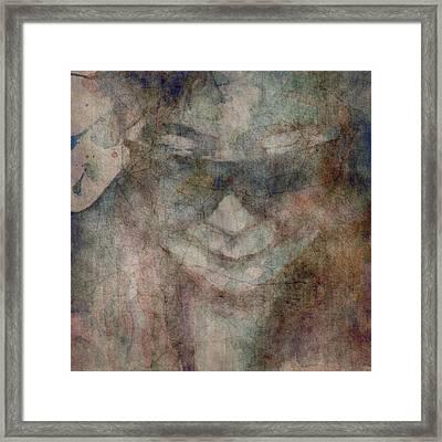 Oh Yoko Porcelain  Framed Print