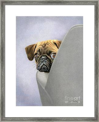 Oh, You're Home... Framed Print