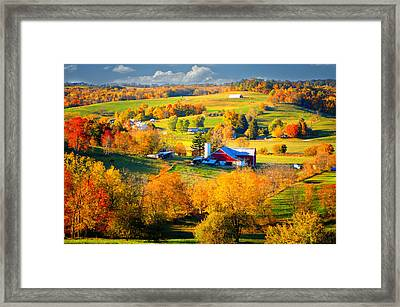 Ohio Amish Country Framed Print by Mary Timman