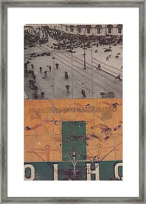 Ohio Composition Breads Circuses Framed Print by William Douglas