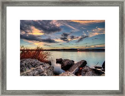Ohio Fall Sunset Framed Print