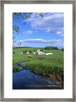 3d203 Ohio Farm Photo Framed Print