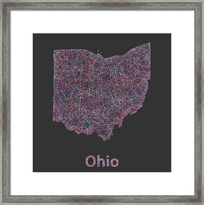 Ohio Map Framed Print