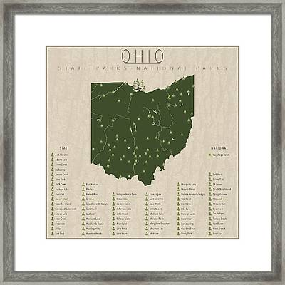 Ohio Parks Framed Print by Finlay McNevin