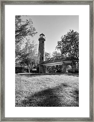 Ohio River Entrance To Coney Island Bw Framed Print by Mel Steinhauer
