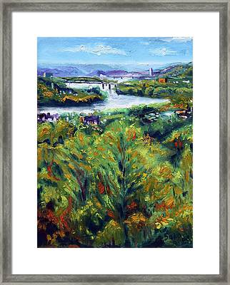 Ohio River From Ayers-limestone Road Framed Print by Robert Sako