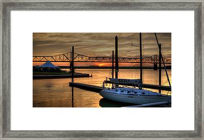 Framed Print featuring the photograph Ohio River Sailing by Deborah Klubertanz