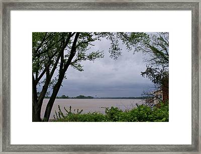 Ohio River Framed Print by Sandy Keeton