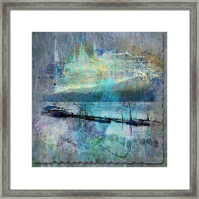 Ohio River Splatter Framed Print by Diana Boyd