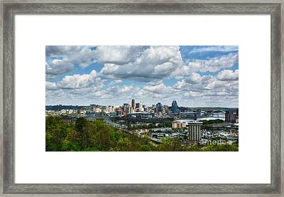 Ohio River Valley At Cincinnati Framed Print