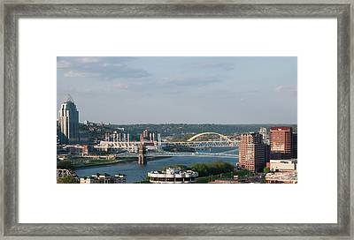 Ohio River's Suspension Bridge Framed Print