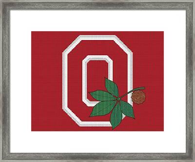 Ohio State Buckeyes Beer Cap Mosaic Framed Print by Dan Sproul