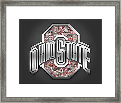 Ohio State Buckeyes Football Framed Print by Fairchild Art Studio