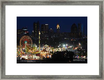 D3l-464 Ohio State Fair With Columbus Skyline Framed Print