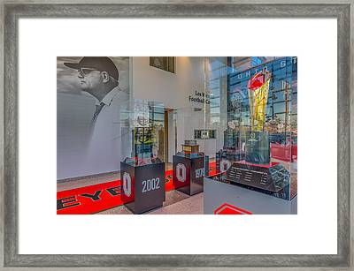 Ohio State Football National Championship Trophy Woody Framed Print by Scott McGuire