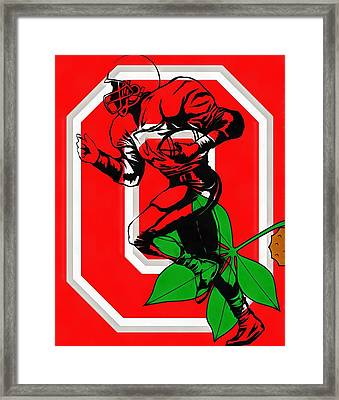 Ohio State Football Player Framed Print