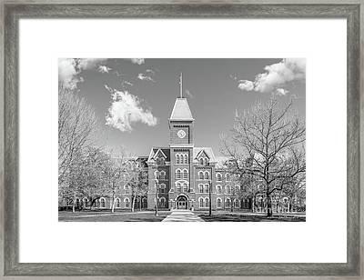 Ohio State University Hall Horizontal Framed Print