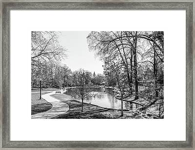 Ohio State University Mirror Lake Framed Print by University Icons