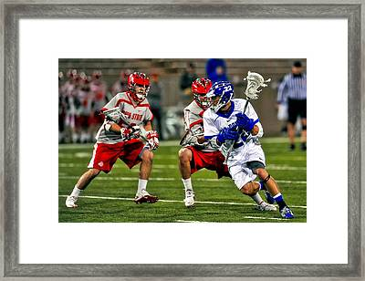 Ohio State Versus Air Force Framed Print by Mountain Dreams