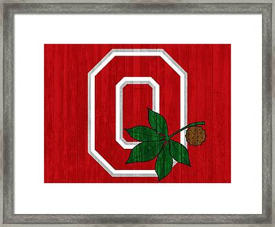 Ohio State Wood Door Framed Print by Dan Sproul