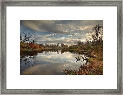 Ohio Sunset Framed Print