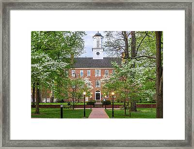 Ohio University Cutler Hall In Spring Framed Print by Robert Powell