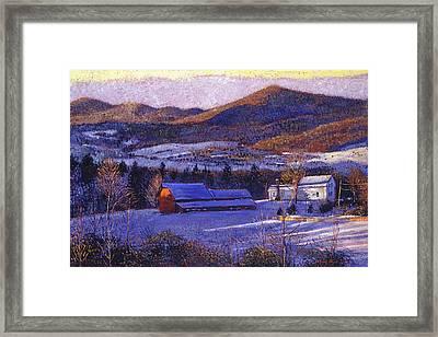 Ohio Winter Blue Framed Print