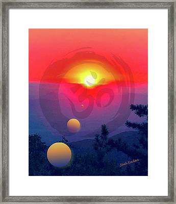Ohm Framed Print by Jack Eadon
