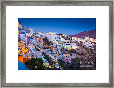 Oia Hillside Framed Print by Inge Johnsson