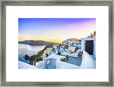 Oia, Santorini - Greece Framed Print