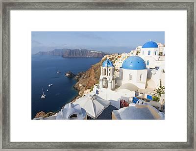 Oia Views, Santorini Greece Framed Print