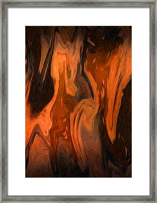 Oil Abstract Framed Print by Svetlana Sewell