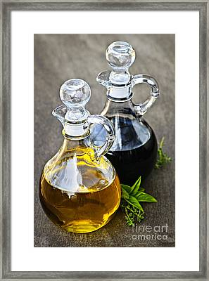 Oil And Vinegar Framed Print