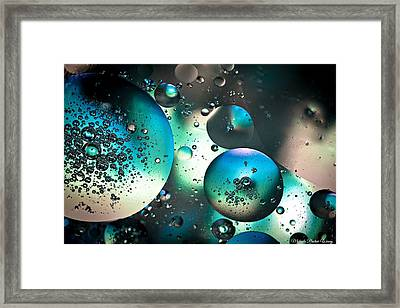 Framed Print featuring the photograph Oil And Water 1 by Michaela Preston