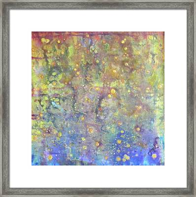 Oil And Water Framed Print by Jean LeBaron