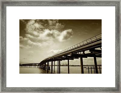 Oil Bridge II Framed Print