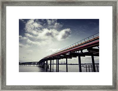 Oil Bridge Framed Print