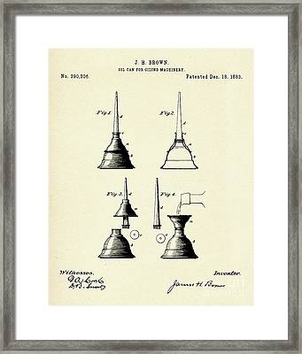 Oil Can For Oiling Machinery-1883 Framed Print