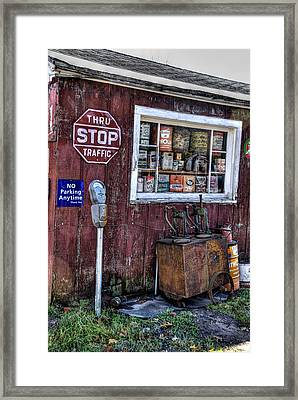 Oil Cans Framed Print