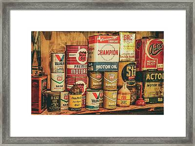 Oil Change Framed Print