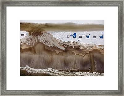 Oil-covered White Sands Of Orange Beach Framed Print