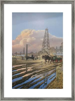 Oil Craze Of 1889 Framed Print