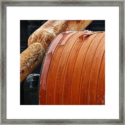 Oil Field Equipment Framed Print by Art Block Collections