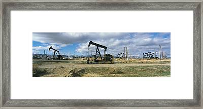 Oil Field Framed Print by Panoramic Images