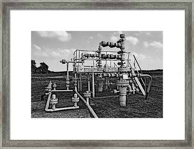 Oil Field Pipe Framed Print