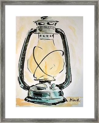Oil Lamp Framed Print