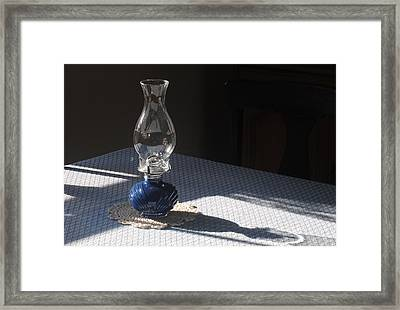 Oil Lamp Framed Print by Steven Scott