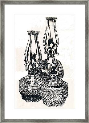 Oil Lamps Framed Print by Barbara Keith